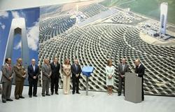 Los Reyes inauguran la planta solar PS20,la mayor central comercial de torre del mundo