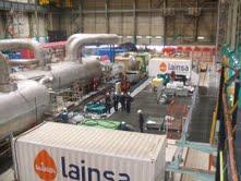 Lainsa obtiene la máxima calificación en un proyecto de limpieza de intercambiadores de calor en la central nuclear de Bugey en Francia