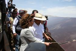 El Presidente Humala inaugura las plantas de energía solar fotovoltaica del Grupo T-Solar en Perú